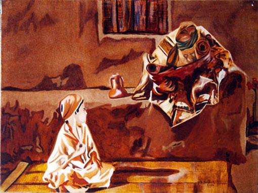 La Chaine - Huile sur toile - 097 x 130 - 2003