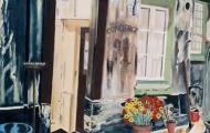 Concierge - huile sur toile - 060x073 - 1998