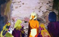 Engagement - huile sur toile 097 x 130 - 2003
