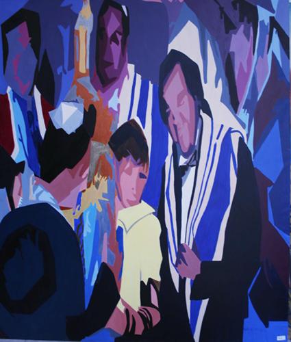 Petit Homme - Acrylique sur toile 162 x 130 - 2003/2004
