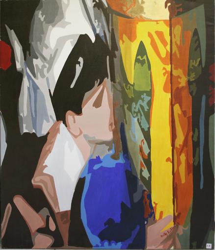 Vénération - Acrylique sur toile 100 x 073 - 2003/2004