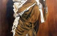 Aïcha & son bébé - huile sur toile 130 x 97 - 1999/2000