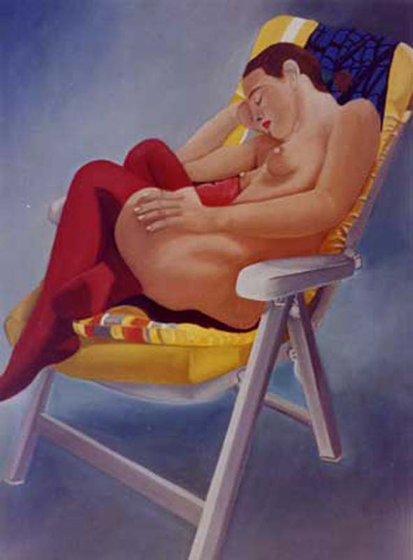 Les Bas Rouges - huile sur toile - 1999 collection particulière