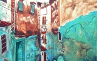 Chefchaoun - huile sur toile 162 x 114 - 2003