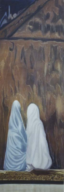 Connivence - huile sur toile 150 x 050 - 2001