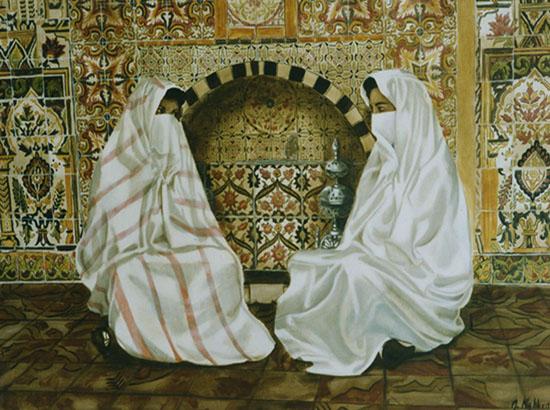 Confidence - huile sur toile 097 x 130 collection particulière - 2002