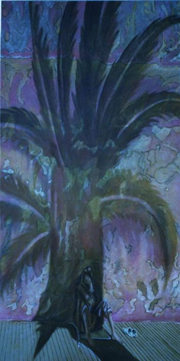 Conscience - huile sur toile 160 x 080 - 2000