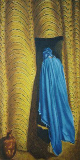 Désir - huile sur toile 160 x 080 - 2001 - collection particulière