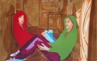 Duo II - huile sur toile 97 x 130 - 2010