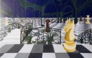 Echec à la Reine au Grand Palais - acrylique sur toile - 1998