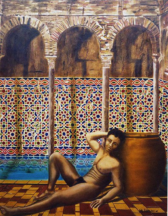 Zellig - huile sur toile 146 x 114 - 2000/2001