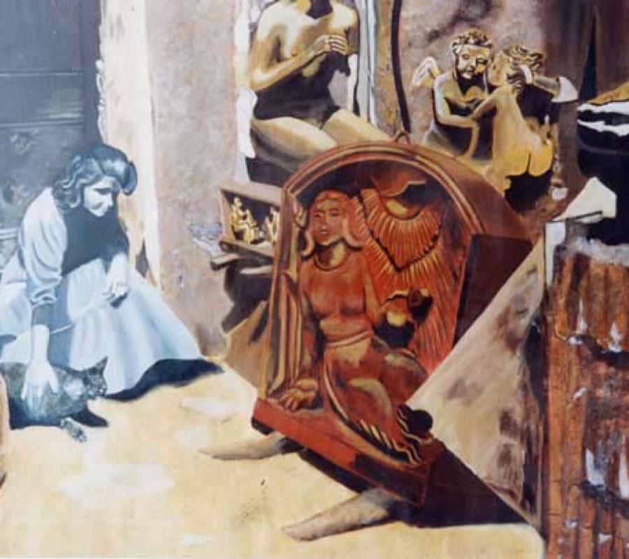 Hommage à Camille Claudel - acrylique sur toile 114 x 146 1999 collection particulière