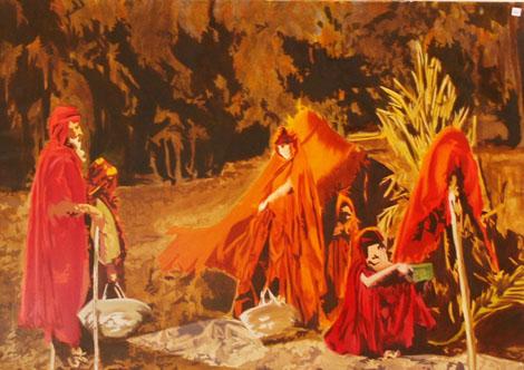 Hospitalité - huile sur toile 097 x 130 - 2004