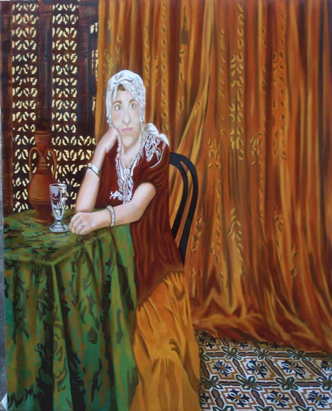Isabelle - huile sur toile 146 x 114 cp