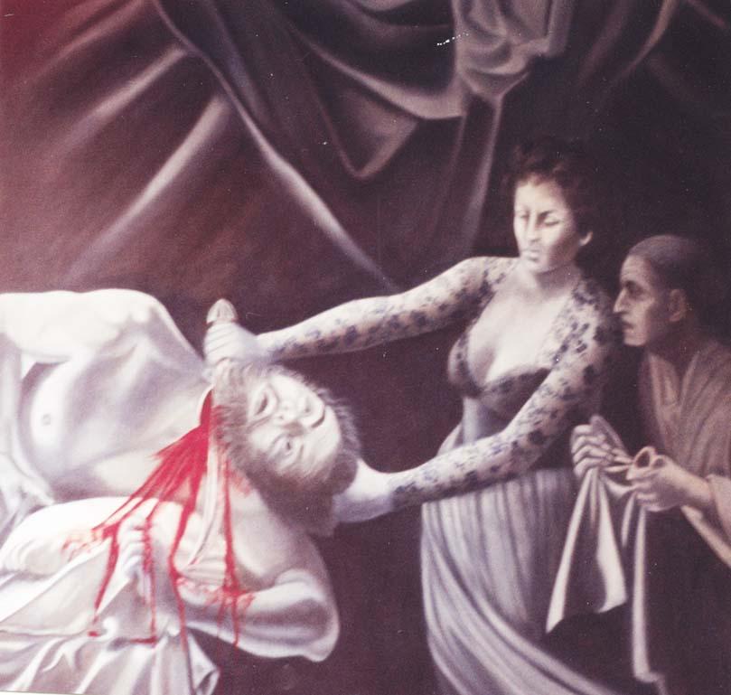 Judith et Hollophèrne - huile sur toile  150 x 150 - 1999 collection particulière