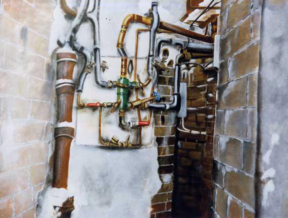 La cave - huile sur toile - 97x130 - 1997