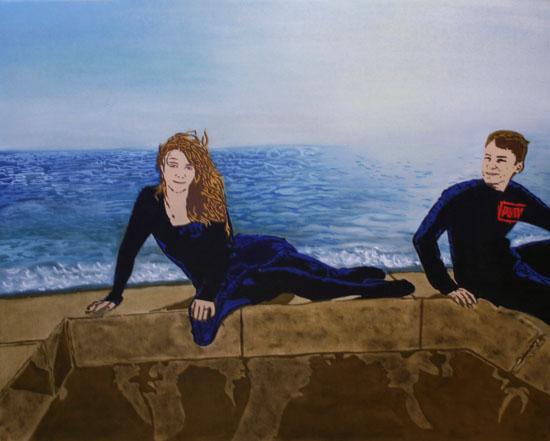 La  Brise - huile sur toile 162 x 130  -  2007