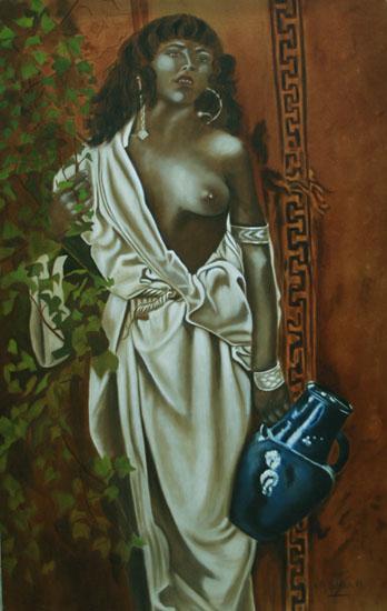 La Gitane huile sur toile 146 x 089  -  2000