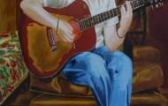 La Musique - huile sur toile 130 x 089