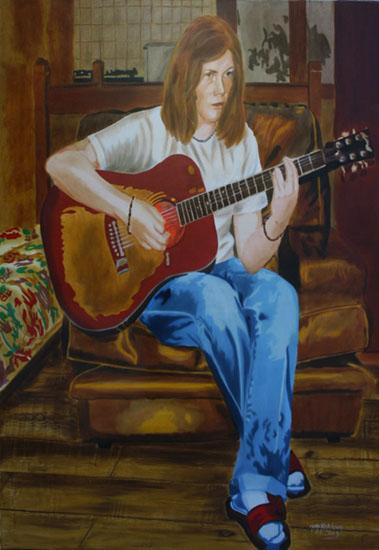 La Musique - huile sur toile 130 x 089 - 2005