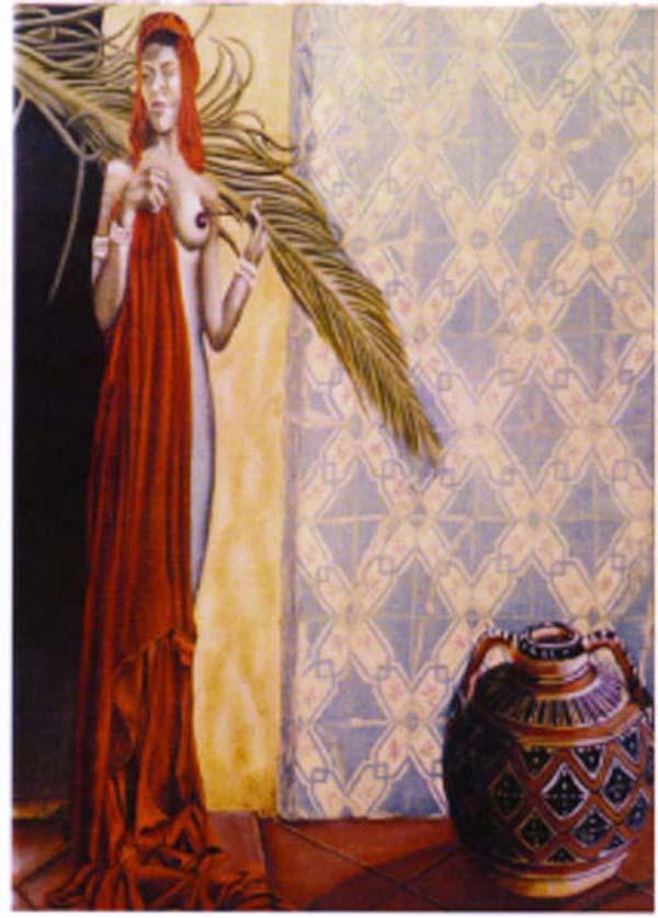 La Palme - huile sur toile 100 x 073 - 2002