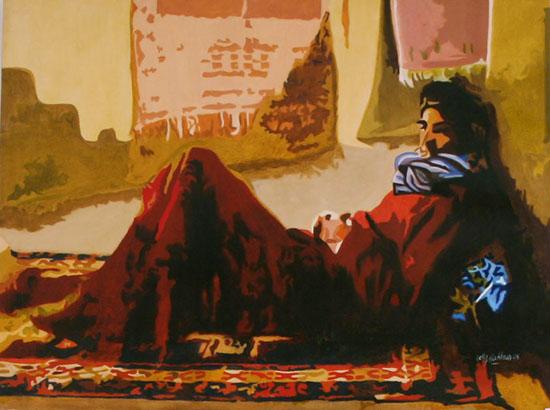 LA Paresse - huile sur toile 097 x 130 - 2004
