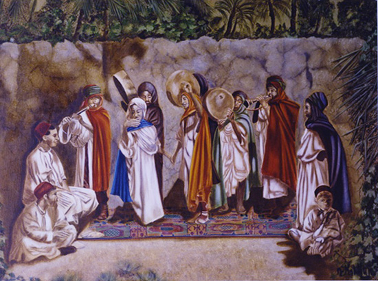 La fête technique sur toile 097 x 130  1999  -  1999