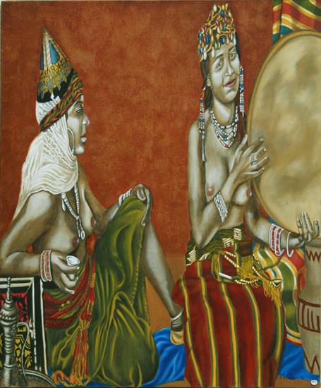 La musique huile sur toile 100 x 081 - 2002