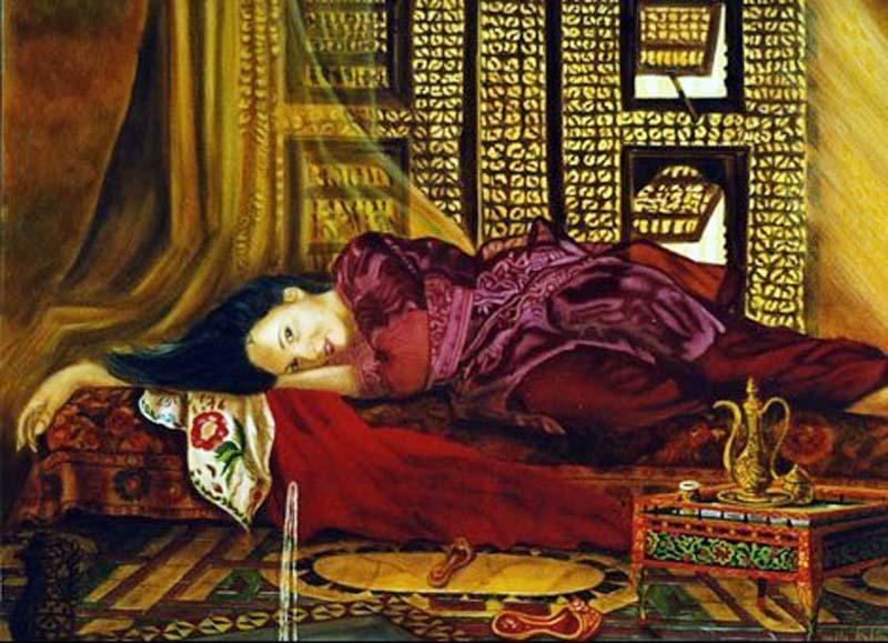 Languissante - huile sur toile 114 x 146   2000/2001