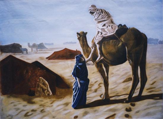 L'Arrivée.. Le Départ - huile sur toile 073 x 100 - 1997