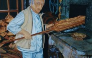 Le Boulanger - huile sur toile