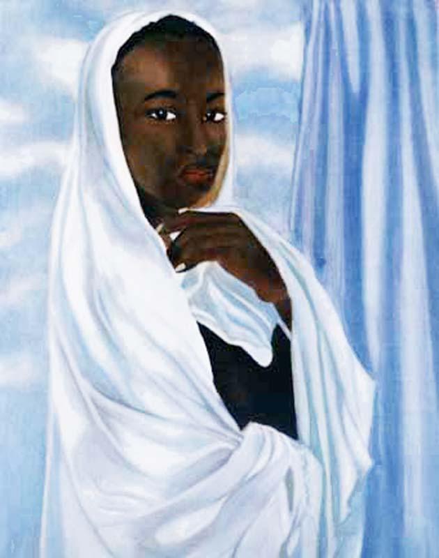 Le Voile Blanc - huile sur toile 073 x 060 1998 - collection particulière