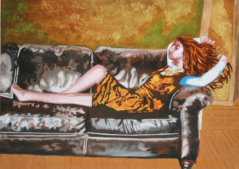 Le Canapé - huile sur toile 097 x 130   -  2010