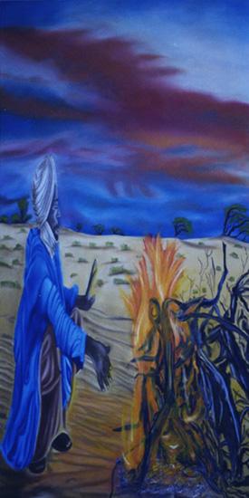 Le Buisson - huile sur toile 160 x 080  2001