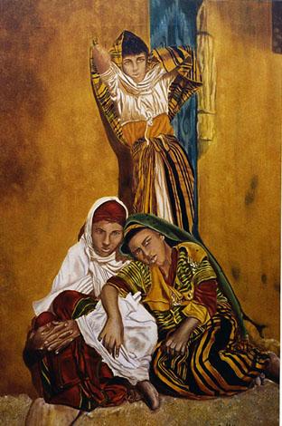 Le Repos - huile sur toile 146 x 097  2000