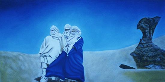 Le Vent - huiie sur toile 080 x 160 - 2003
