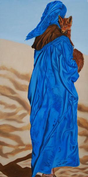 Le Fennec - huile sur toile 160 x 080 collection particulière