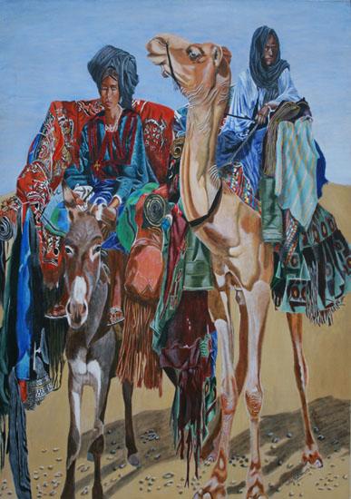 Le Voyage - acrylique sur toile 162 x 114 - 2000/2001
