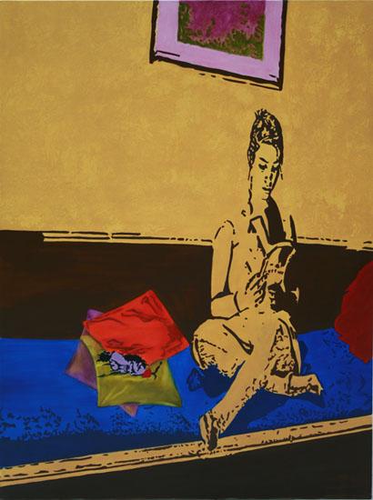 Lecture - huile sur toile 130 x 097 - 2007/2008