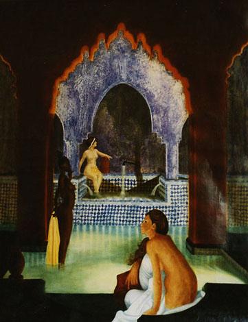 Les Baigneuses - huile sur toile 116 x 89 - 1999