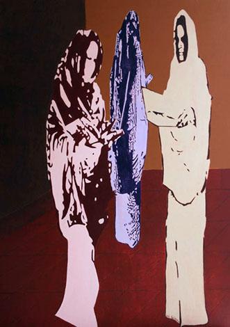 Méditation - huile sur toile 162 x 114 - 2003