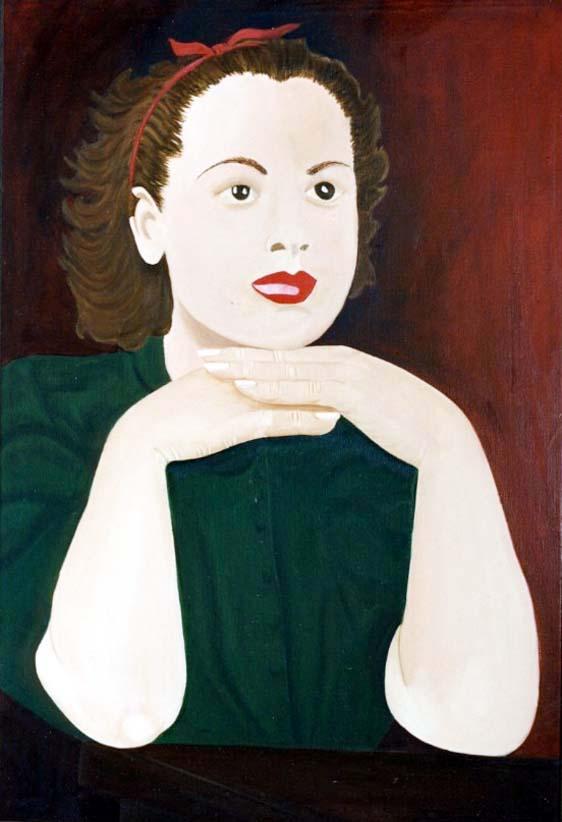 Miroir - huile sur toile 116 x 81 - 1998