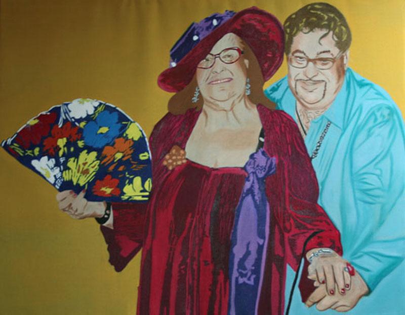Miroir II - huile sur toile 114 x 146 2009