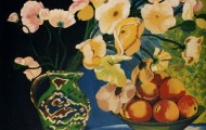 Les Pavots - acrylique sur toiles - 1997