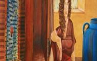 Pétales de Roses - huile sur toile 162 x 114