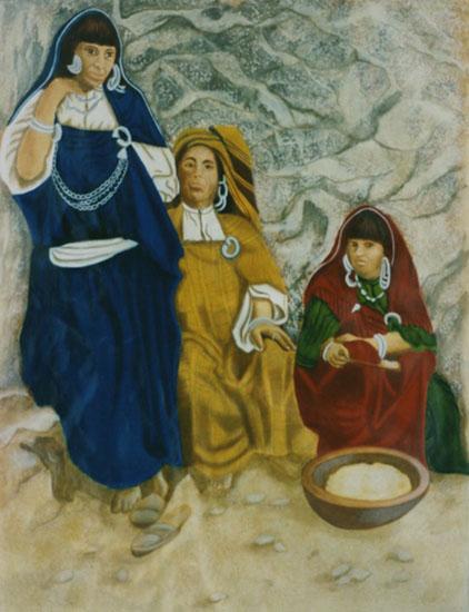 Rencontre - huile sur toile 116 x 089 1999  collection particulière