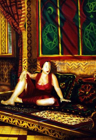Romina - huile sur toile 130 x 089 -2000