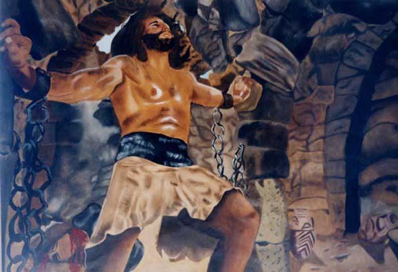 Samson -  huile sur toile 097 x 130 - 1999  collection particulière