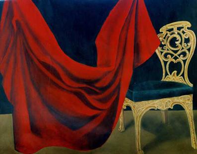 La Scène - acrylique sur toile - 097 x 130  - 1997