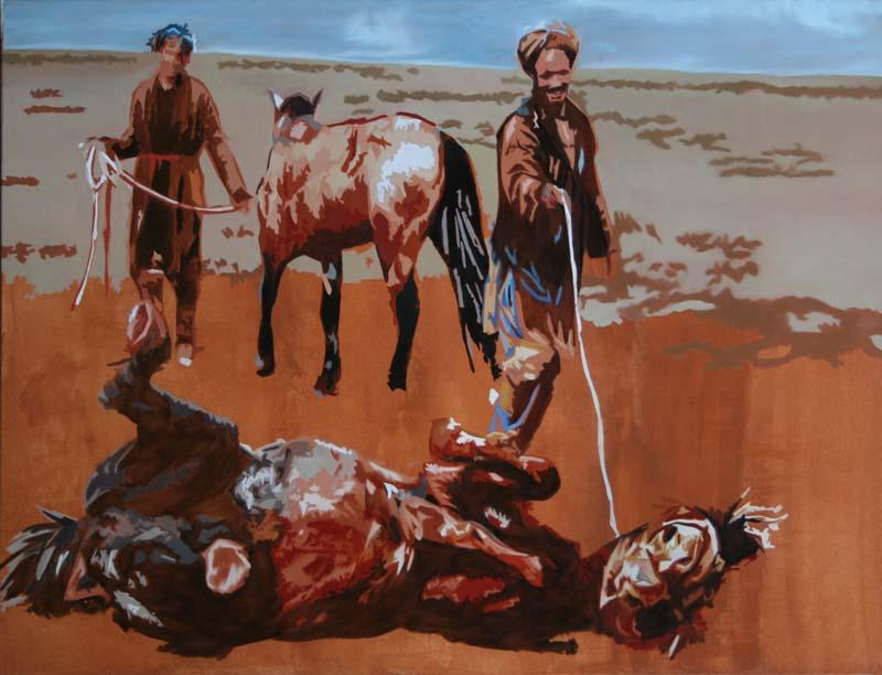 Soumission - huile sur toile  097 x 130 - 2006